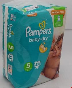 پمپرز آلمان / پوشک پمپرز آلمانی بیبی درای سایز 5 تعداد 23 عددی pampers baby dry size 5