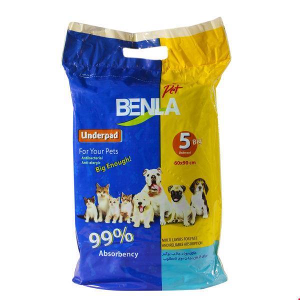 زیر انداز بهداشتی بنلا پت مناسب حیوانات بسته 5 عددی